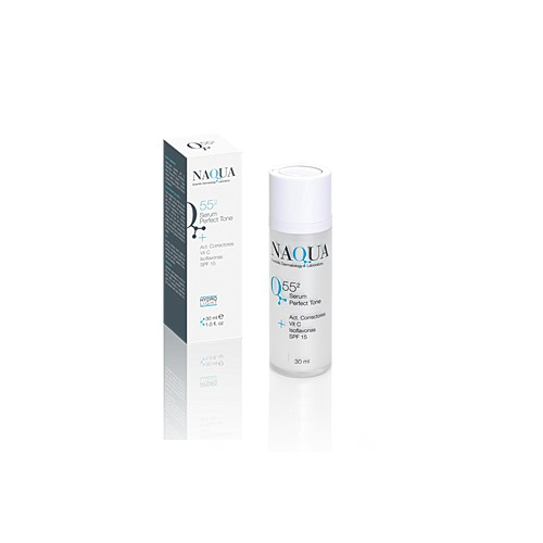 Q55-2 Serum Perfect Tone + Act correct, Vit C, Isoflav, SPF15