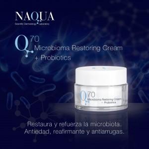 Naqua Q70 crema microbioma restoring+probiotics hyaluronico
